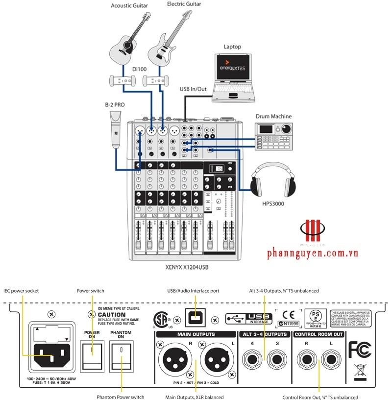 Mixer Behringer XENYX-X1204USB-1