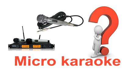 chọn mua micro karaoke