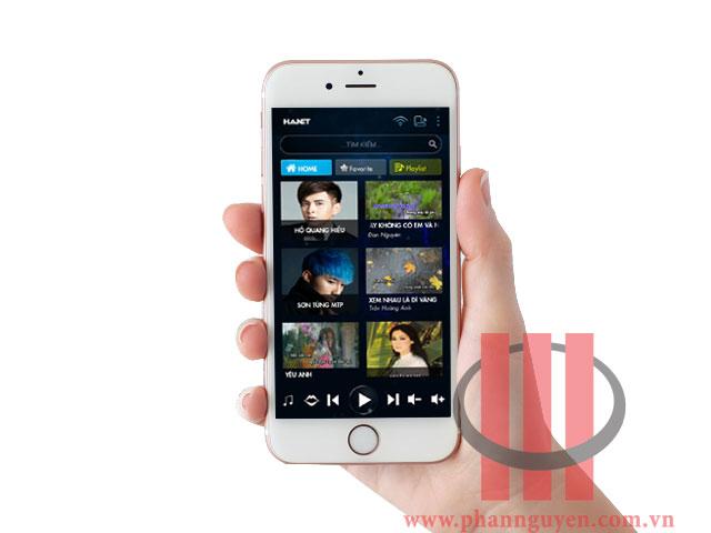 Giao diện điều khiển Hanet PlayX One trên điện thoại