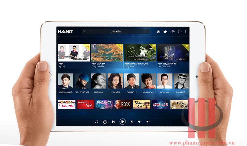 Giao diện điều khiển Hanet PlayX One trên tablet