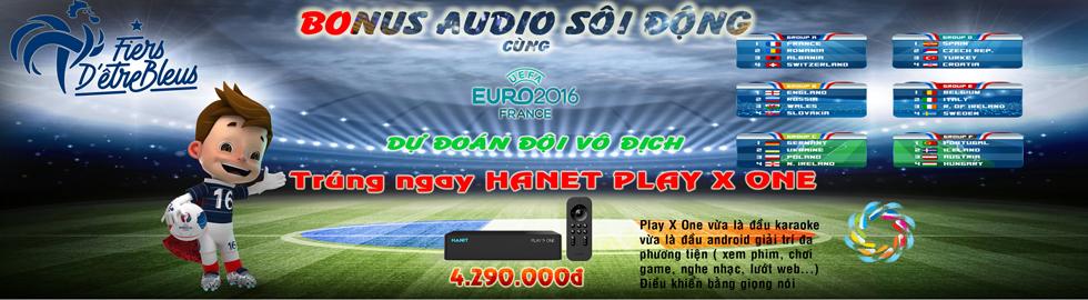 Vui cùng Euro 2016 với Bonus Audio