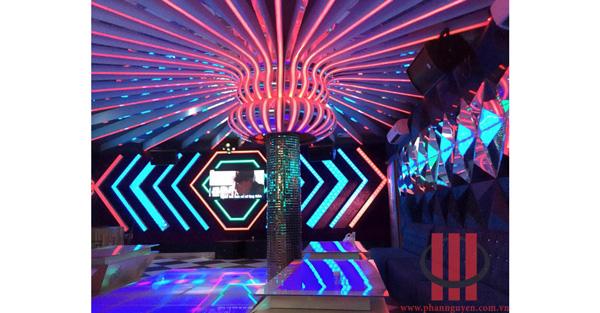Công trình thiết kế thi công phòng karaoke Đồng Xanh Tiền Giang