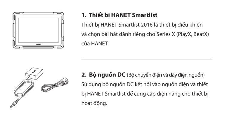 Bộ sản phẩm đầu Hanet Smartlist