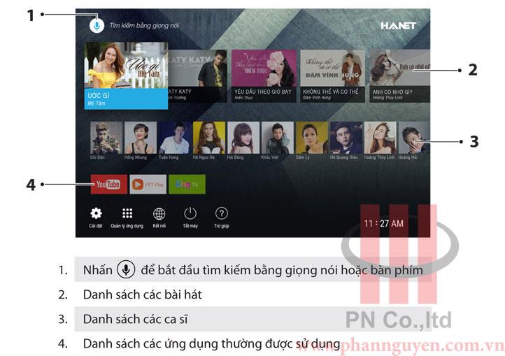Hướng dẫn sử dụng chức năng karaoke trên Hanet PlayX One
