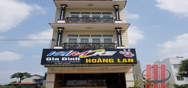 Interior decoration and audio setup at Hoang Lan – Quang Ngai.