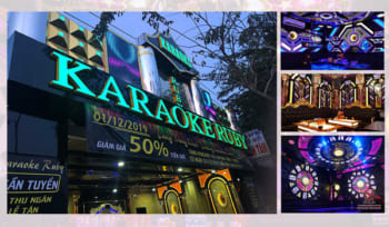 Công trình thi công âm thanh nội thất chuyên nghiệp tại Karaoke Ruby Bình Chanh
