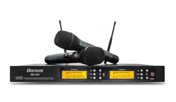 Micro karaoke không dây Bonus MB-200 chuyên dụng dành cho ca hát