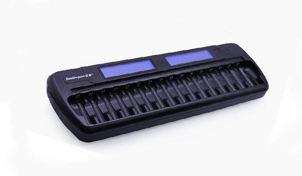 Bộ sạc pin 16 viên thông minh Doublepow DP-K16 tự ngắt khi đầy.